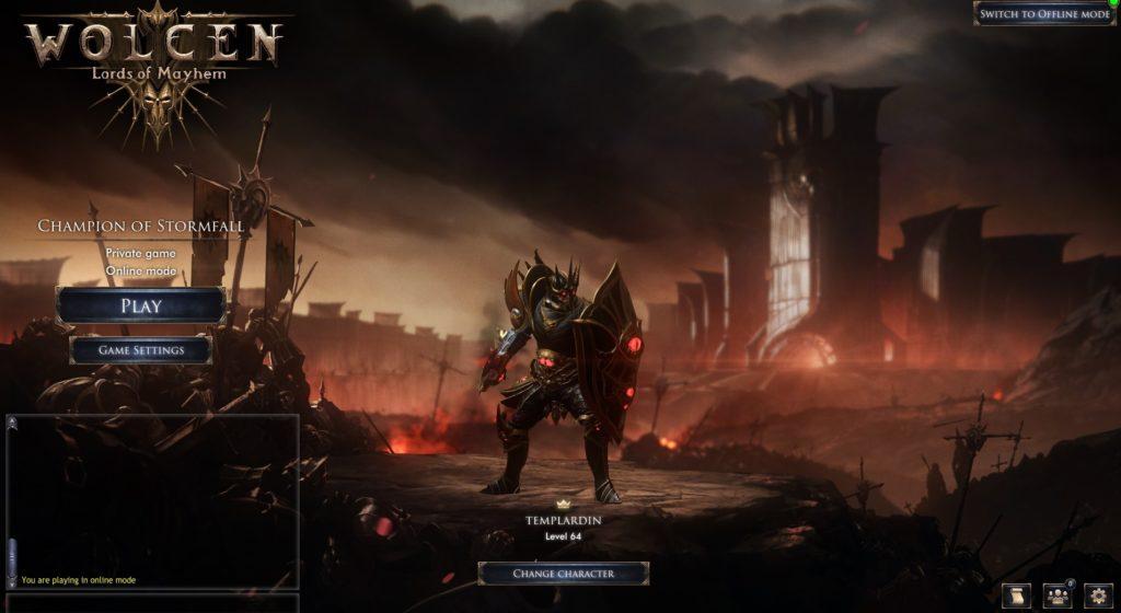 Wolcen Character Screen